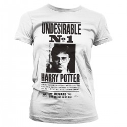 T-shirt Poster Wanted Femme Harry Potter
