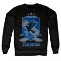 Sweatshirt Noir Blason Serdaigle Adulte