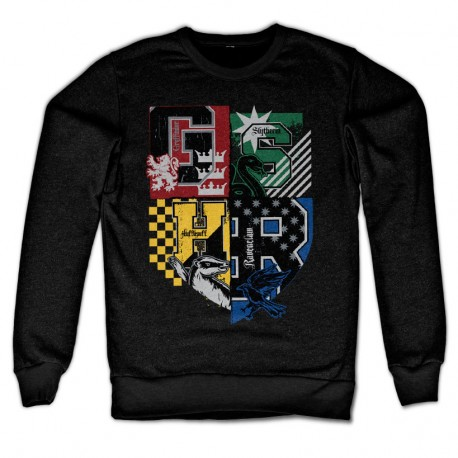 Sweatshirt Noir 4 Maisons Poudlard Adulte