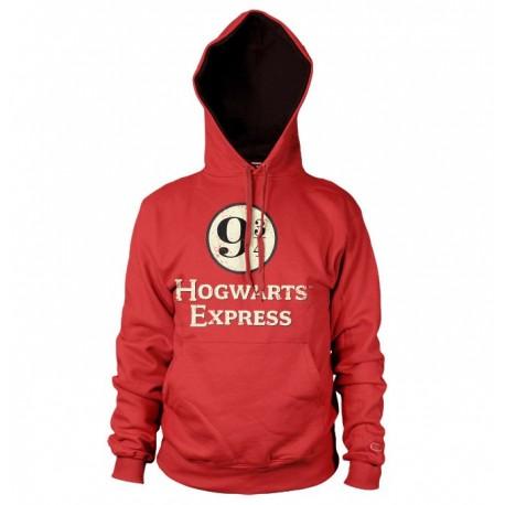 Hoodie Rouge Poudlard Express Voie 9 3/4 Adulte Harry Potter