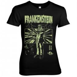 T-Shirt Frankenstein Noir Femme Univeral Monsters