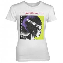 T-Shirt Fiancée de Frankenstein Blanc Femme Universal Monsters
