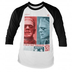 T-Shirt Manches 3/4 Frankenstein Horror Show Adulte Universal Monsters