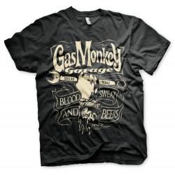 T-Shirt Noir Clé à Molette Garage Gas Monkey
