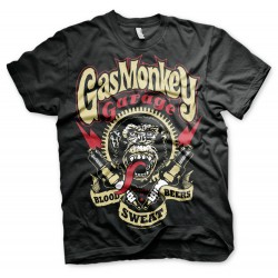 T-Shirt Blood, Sweat and Beers ! Garage Gas Monkey