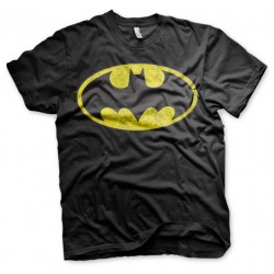 T-Shirt Noir Homme Logo Batman DC Comics