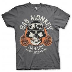T-Shirt Tête de Mort Motard Garage