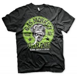 T-Shirt Noir Logo Singe Garage Gas Monkey