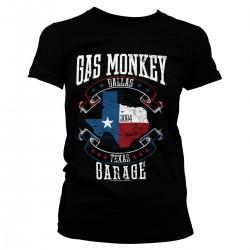 T-Shirt Femme Drapeau Texas Gas Monkey