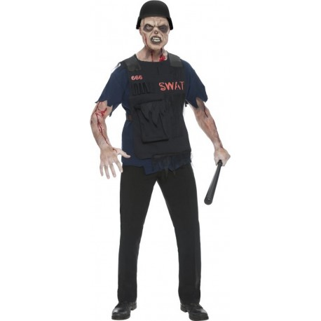 Déguisement Zombie SWAT Homme - Costume Zombie Halloween The Duck