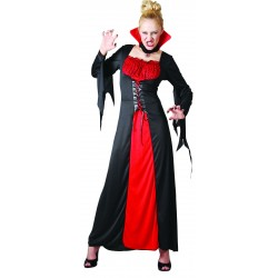 Déguisement de Vampire Rouge femme - Costume Vampire Halloween The Duck