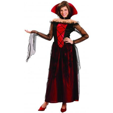 Déguisement Duchesse Vampire Rouge Femme - Costume Vampire The Duck