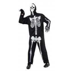 Déguisement de Squelette Noir Homme