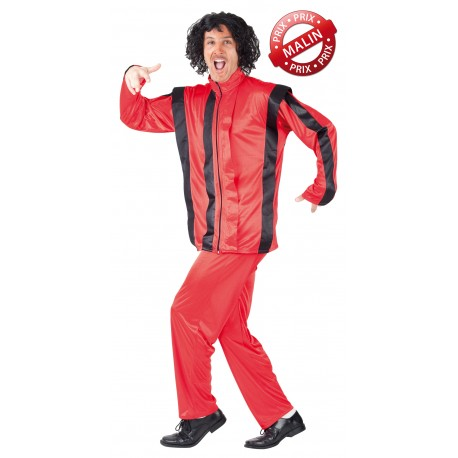 Déguisement Thriller Danseur Micheal Rouge Homme - Costume Danse Homme The Duck