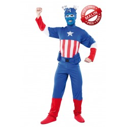 Déguisement de Capitaine America Homme - Costume Super Héros The Duck