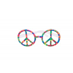 Lunettes de Hippies Multicolores Adulte