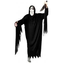 Déguisement Fantôme Noir Adulte - Costume Squelette Fantôme The Duck