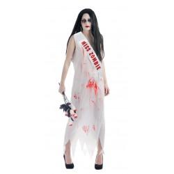 Déguisement de Miss Zombie Femme - Costume Zombie Femme Halloween The Duck