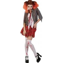 Déguisement d'Etudiante Zombie Femme