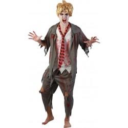 Déguisement de Zombie Etudiant Homme