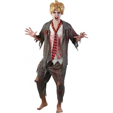 Déguisement Zombie Etudiant Homme - Costume Zombie Homme Halloween the Duck