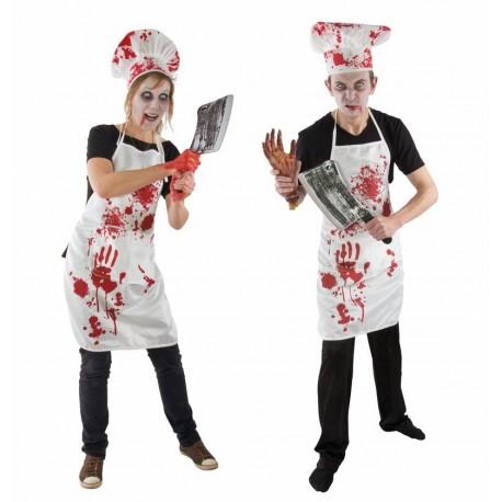 Déguisement de Cuisinier Sanglant Adulte - Costume Zombie Halloween The Duck