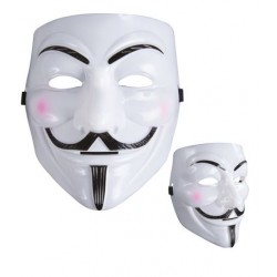 Masque d'Anonymous Blanc Adulte