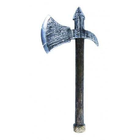 Déguisement Arme Hache Médiévale Argent 40cm - Costume Arme The Duck