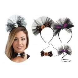 Kit Serre-tête et Noeud Papillon Halloween Femme