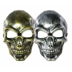 Masque de Squelette Métallisé Adulte