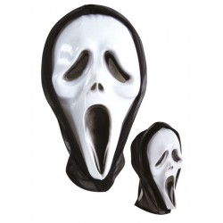 Masque de Fantôme Hurlant Noir & Blanc Adulte