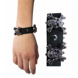 Bracelet Elastique Têtes de Mort Adulte