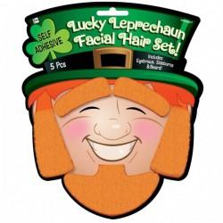 Kit du Leprechaun : Sourcils, Pattes & Barbe Roux