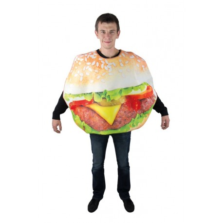 Déguisement de burger beige adulte - costume big mac homme The Duck