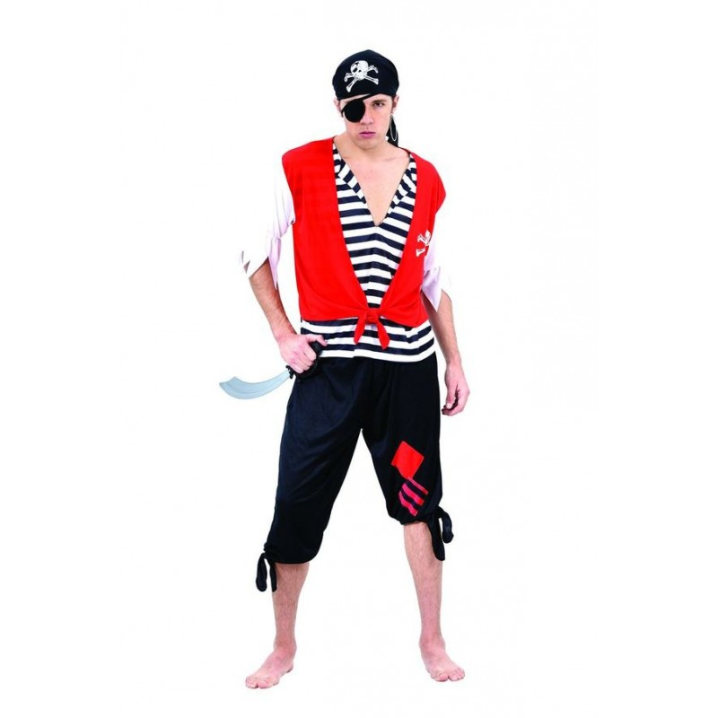D guisement de pirate rouge homme costumes de pirates sur the - Maquillage pirate homme ...