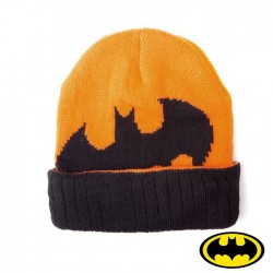 Objet Geek Bonnet Batman Orange Noir Adulte - Cadeau Geek Bonnet Batman The Duck