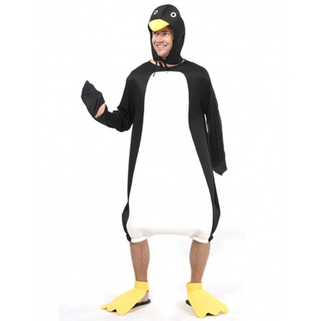 Déguisement Pingouin Blanc Noir Adulte - Costume pingouin adulte animaux The Duck