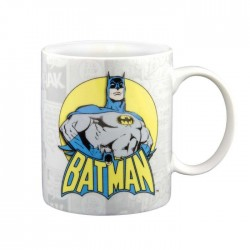 Objet Geek Mug Batman Blanc style BD - Cadeau Geek Mug Super Héros Batman The Duck