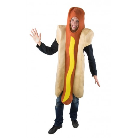Déguisement de Hot Dog Sauce Moutarde Adulte - Costume Humour Drole Fun adulte The Duck