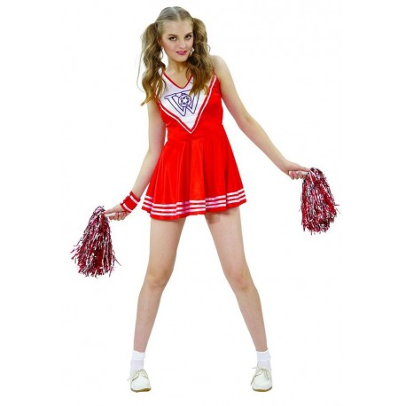 Déguisement Pom Pom Girl Rouge Femme - Costume Sport The Duck
