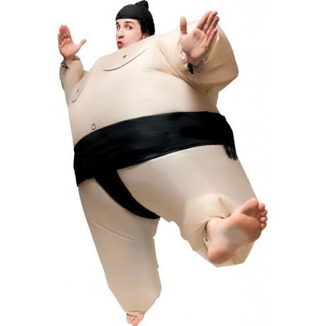 Déguisement Sumo Beige Gonflable Adulte - Costume Sport The Duck