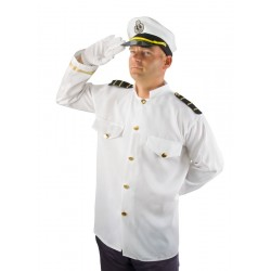 Déguisement Capitaine Marine Navire Homme - Costume Militaire Marine The Duck