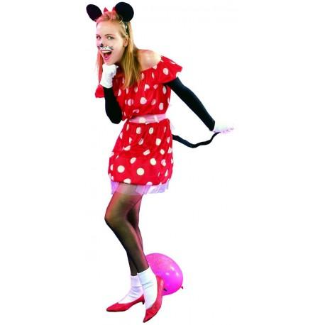 Déguisement Souris Rouge Femme - Costume souris adulte Animaux The Duck