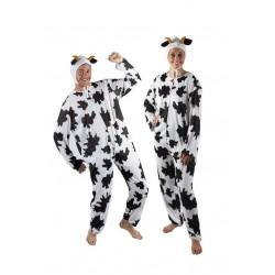 Déguisement de Vache Noir & Blanc Adulte