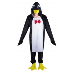 Déguisement Pingouin Noir Rouge Adulte - Costume pingouin adulte Animaux The Duck