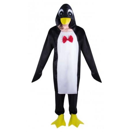 Déguisement Pingouin Noir Rouge Adulte - Costume pingouin adulte Animaux The Duck