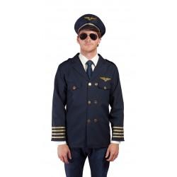 Déguisement Pilote Homme Bleu Marine - Costume Pilote Homme Bleu The Duck