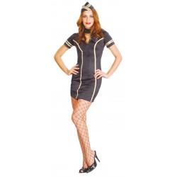 Costume hôtesse de l'air sexy femme