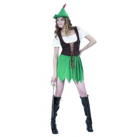 Déguisement Robin des Bois Femme - Costume Robin des Bois Femme Moyen Age The Duck