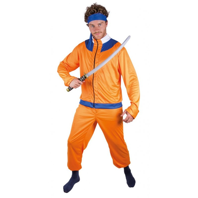 d guisement de ninja manga orange homme costumes manga jeux vid os sur the. Black Bedroom Furniture Sets. Home Design Ideas